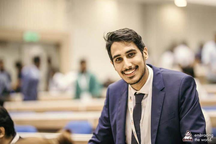 Aiknaath Jain (du Royaume-Uni), un autre représentant d'AYUDH à la conférence